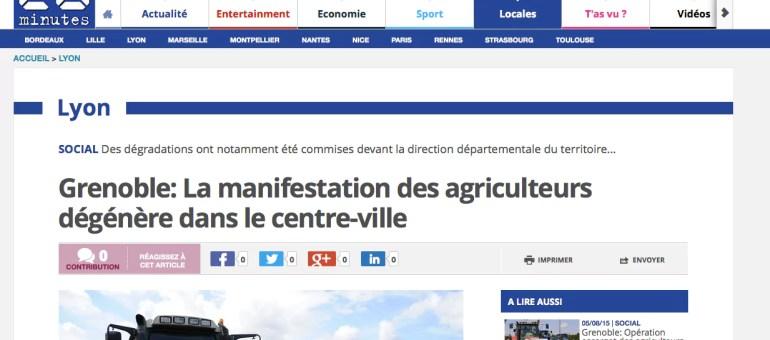 Grenoble : dégradations au cours d'une manifestation d'agriculteurs
