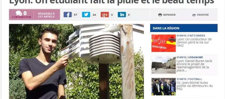 A Lyon, un étudiant crée son propre site de prévisions météo