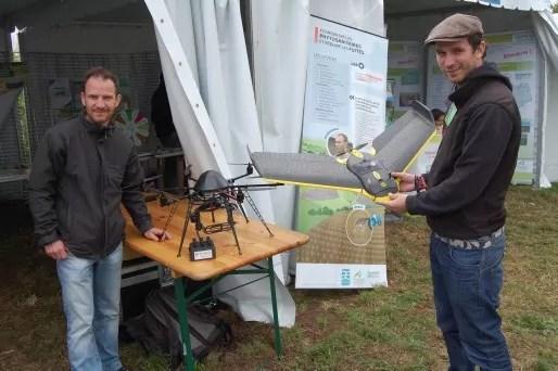 Benoît de Solan ingénieur chez Arvalis (à gauche) et Thibaud Leroy de la Chambre d'Agriculture de la Somme / Photo BE pour Rue89Lyon