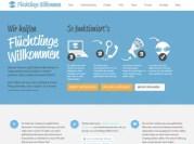 Capture d'écran du site Flüchtlinge Willkommen.