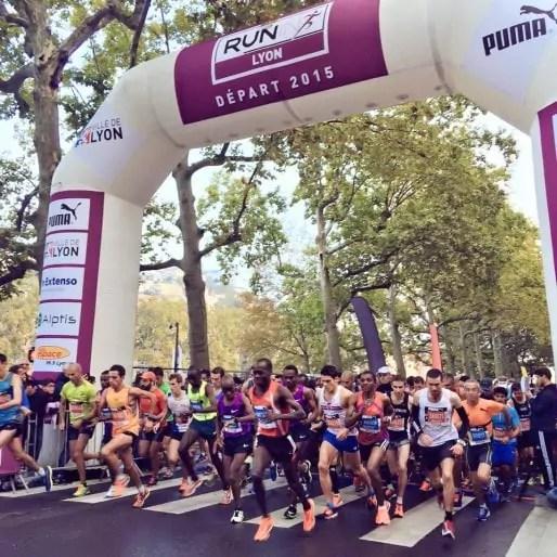 Photo de l'équipe organisatrice de l'événement Run in Lyon. Via FB.