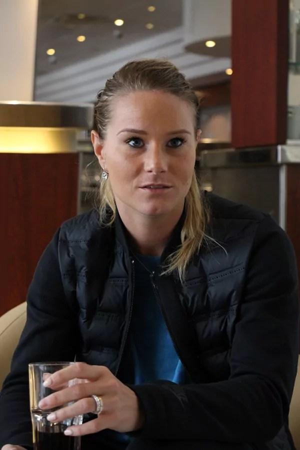 Après sa carrière, Amandine Henry souhaite devenir coach, un poste encore trop rarement confié à des femmes dans le football. ©LM/Rue89Lyon