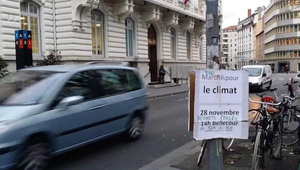 Etat d'urgence (suite) : interdiction de la marche pour le climat à Lyon