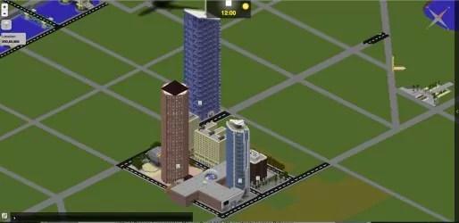 La Part-Dieu en partie recréé sur Minecraft. Capture d'écran