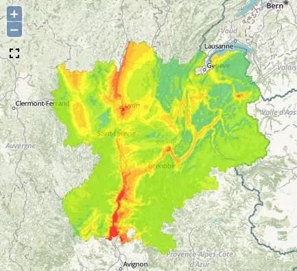Pollution aux particules fines le jeudi 3 décembre en Rhône-Alpes. Capture d'écran Air Rhône-Alpes