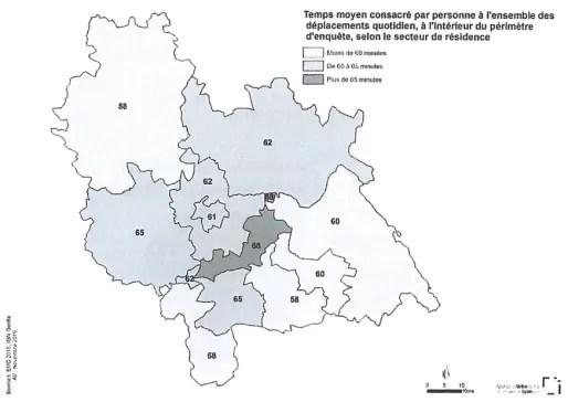 Les habitants de l'aire métropolitaine de Lyon passent en moyenne 62 minutes par jour à se déplacer.