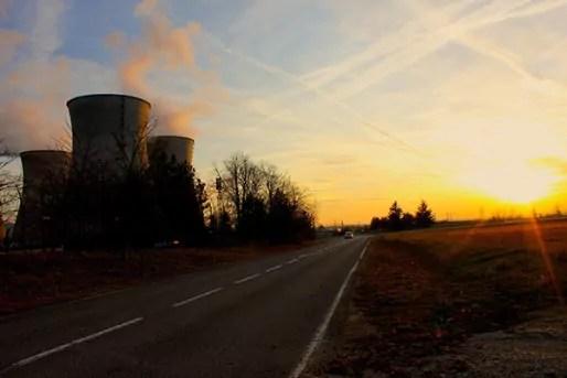 La centrale du Bugey à Saint-Vulbas, à 30 km de Lyon et 70 km de Genève. Crédits : IG/Rue89Lyon.