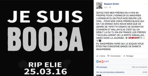 Capture d'écran du FB de Bassem.