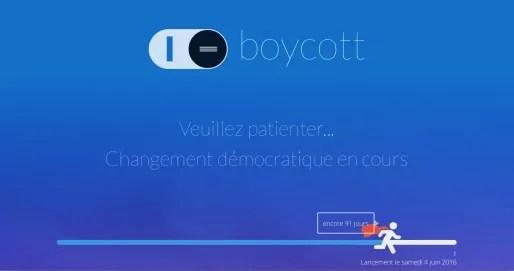 La plateforme I-Boycott sera lancée en juin 2016 . Capture d'écran iboycott.org