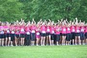 """Des coureuses inscrites au marathon organisé par l'association lyonnaise """"Courir pour elles""""."""