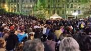 """L'AG de """"Nuit Debout Lyon"""" appelée Agora le jeudi 14 avril vers 22 heures. ©LB/Rue89Lyon"""