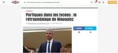 Marche arrière toute pour Laurent Wauquiez : ni portique, ni tourniquet au lycée de Moirans
