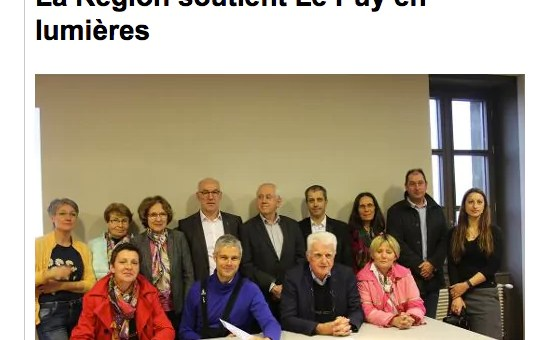 Laurent Wauquiez soutient un projet de mise en lumière du Puy-en-Velay avec 300 000 euros de la Région