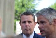 Laurent Wauquiez président de la région Auvergne Rhônes-Alpes et Patrice Verchére député (les républicains) de la 8 ème circonscription du Rhône crédits : SS/Rue89Lyon.