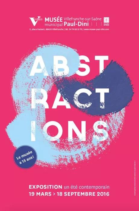 Capture d'écran de l'affiche de l'exposition Abstractions au musée Paul Dini.