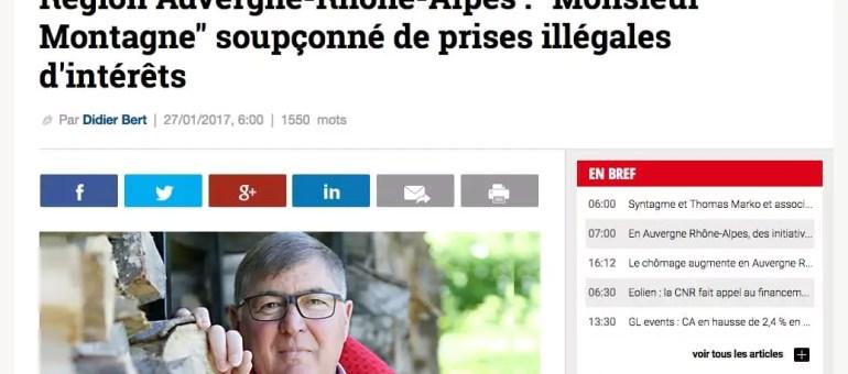 Le «Monsieur Montagne» de Laurent Wauquiez soupçonné de prise illégale d'intérêts