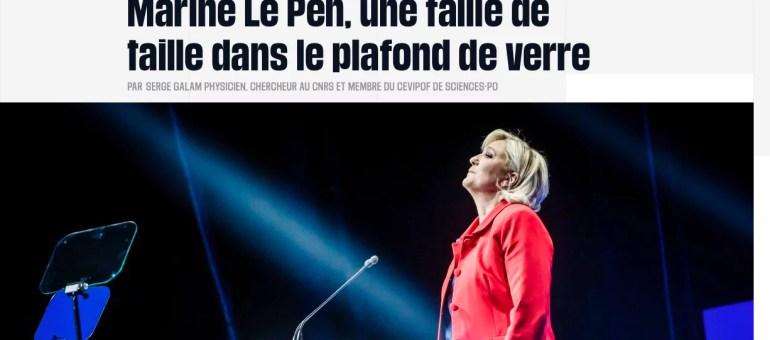 Pourquoi Marine Le Pen pourrait faire voler en éclats le «plafond de verre» du FN