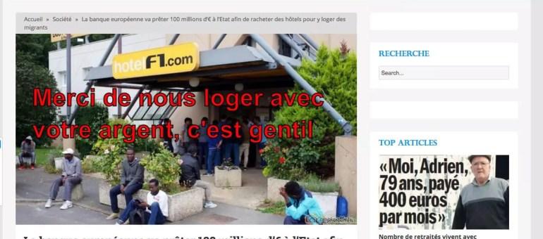 100 millions d'euros pour racheter des hôtels et loger des migrants ? Une fausse info de «lagauchematuer»