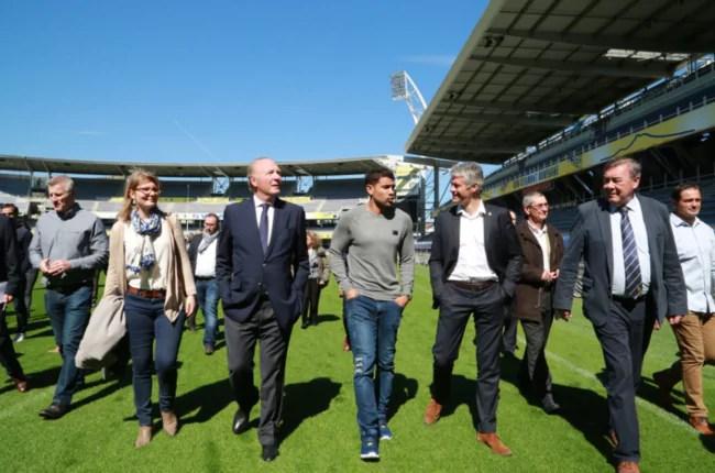 Laurent Wauquiez en visite au stade de rugby de Clermont-Ferrand ©DR