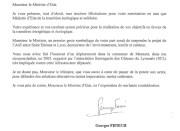 Lettre de Georges Fenech envoyée à Nicolas Hulot sur l'A45