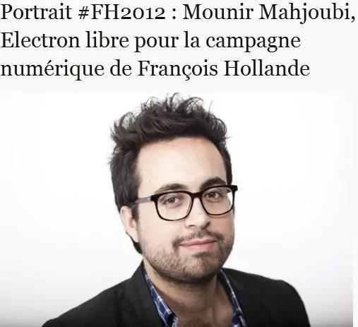 Mounir Mahjoubi Capture d'écran du site de campagne de François Hollande