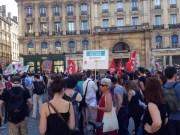 Manifestation du lundi 19 juin organisée place des Terreaux par le Front Social. ©HH/Rue89Lyon.