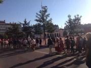 Passage à Bellecour de la manifestation du lundi 19 juin organisée par le Front Social. ©HH/Rue89Lyon.