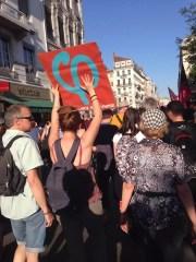 Manifestation du lundi 19 juin organisée place des Terreaux par le Front Social. ©HH/Rue89Lyon