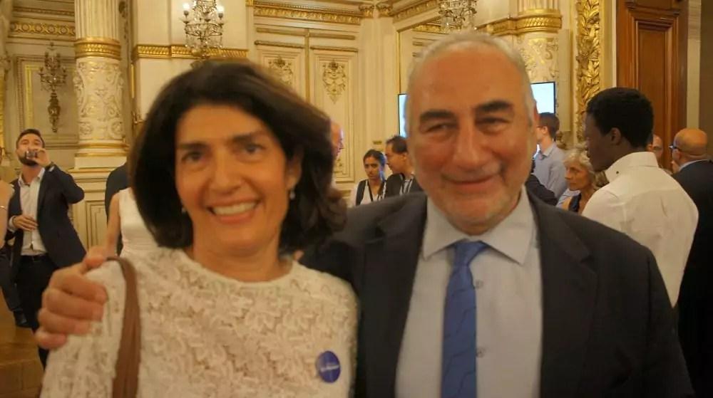 Danielle Cazarian et Georges Képénékian au 2ème tour des législatives à la préfecture du Rhône le 18 juin 2017. ©HH/Rue89Lyon