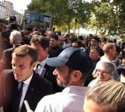 Emmanuel Macron à Lyon. Photo prise par l'élue PRG Fabienne Lévy.