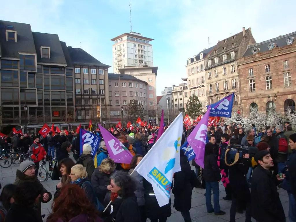 Grève dans la fonction publique jeudi et manifestation à Strasbourg