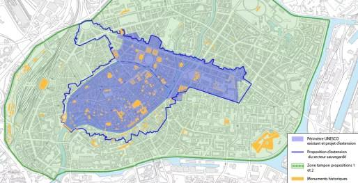 Projet d'extension de la zone labellisée Unesco (Document remis)