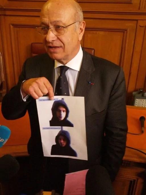 Michel Senthille, procureur de la République, diffuse la photo du suspect (Photo PF / Rue89 Strasbourg)