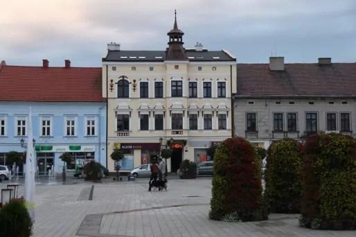 Le coquet centre-ville d'Oswiecim (nom polonais d'Auschwitz- en allemand).