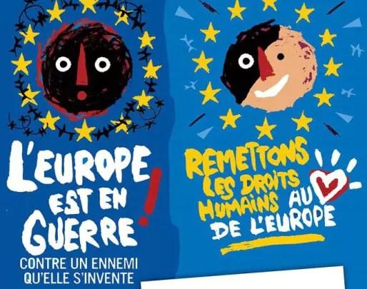 """La chaîne humaine ira de l'arrêt de tramway """"Droits de l'Homme"""" jusqu'au Parlement européen."""