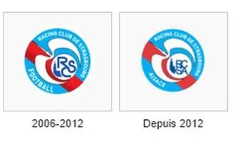 L'évolution du logo du Racing depuis le soutien de la Région