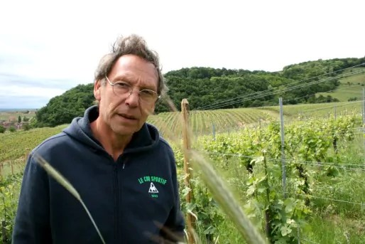 Patrick Meyer a repris le domaine viticole Julien Meyer en 1981, à Nothalten (Photo MM / Rue89 Strasbourg)
