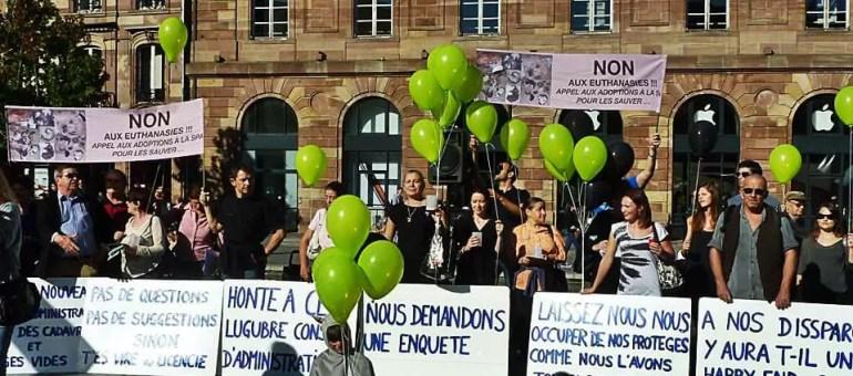 Manifestation contre la nouvelle fourrière animale privée samedi