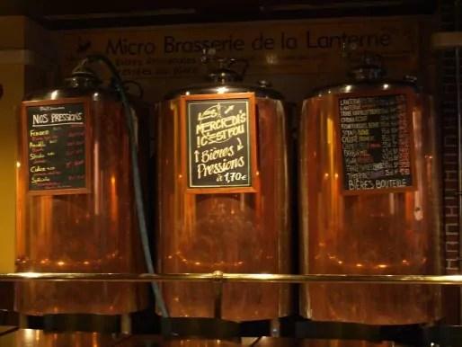 Les cuves de brassage de la bière à la micro-brasserie de la Lanterne. (Photo Clémence Simon)