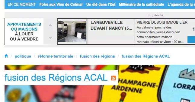 ACAL : la DIRECCTE et la DRAC restent à Strasbourg