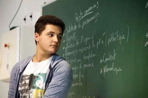 """Gaël est passé du collège de Stockfeld au lycée Rostand. Il a dû """"corriger de mauvaises habitudes de travail"""" et apprendre à se faire aider. Il aimerait devenir architecte."""