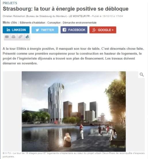Le moniteur dévoile le financement de la tour à énergie positive de Strasbourg (capture d'écran)