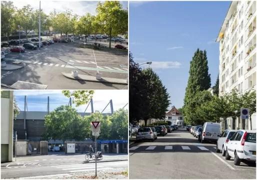 A l'emplacement de la Flachenbourg, un parking et des immeubles (Photos Quentin Bonvalot)