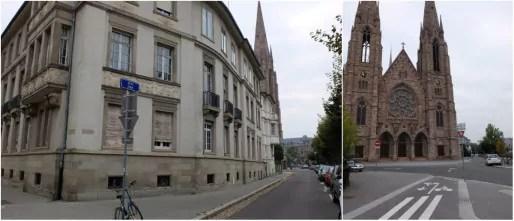 L'église protestante Saint-Paul occupe depuis 1897 l'un des sites les plus emblématiques de la Neustadt (Photo MM / Rue89 Strasbourg)