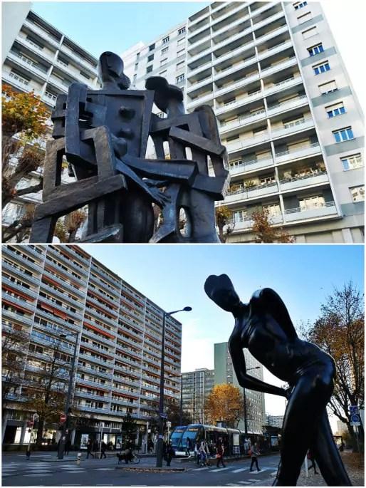 Des œuvres d'art du XXème siècle parsèment l'avenue du Général-de-Gaulle (Photos MM / Rue89 Strasbourg)