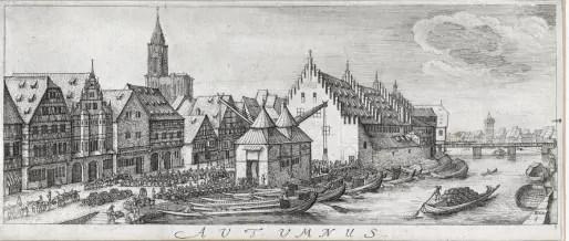 Au Moyen Age, l'Ancienne douane est la porte d'entrée des marchandises à Strasbourg (Archives Strasbourg)