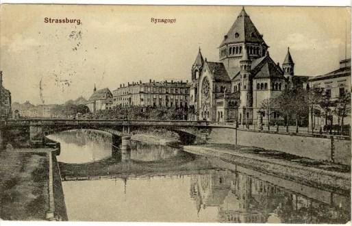 Synagogue consistoire, construite en 1897 et incendiée en 1940 (carte postale Delcampe)
