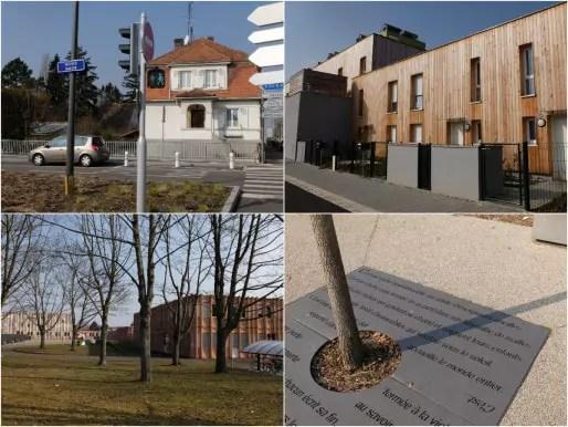 Au nord de la Karine, maisons neuves et collège François-Truffaut (Photos MM / Rue89 Strasbourg)