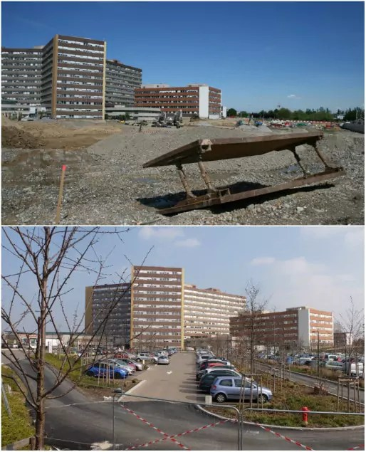 L'hôpital de Hautepierre, 2013 et 2016 (Photos MM / Rue89 Strasbourg)