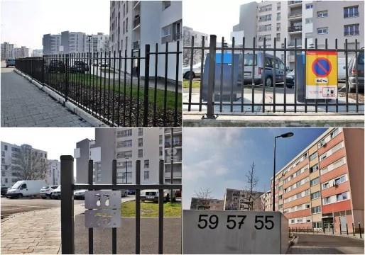 Résidentialisation avenue Racine à Hautepierre : clôtures et numérotation des immeubles rendue visible (Photos MM / Rue89 Strasbourg)